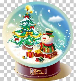 Snow Globe Christmas Gift PNG
