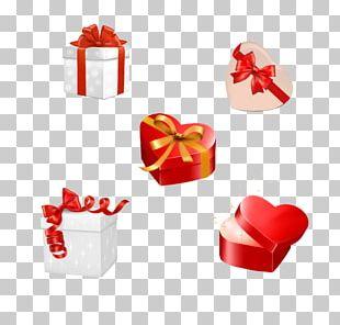 Gift Valentine's Day Box Ribbon PNG