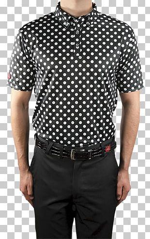 Sleeve T-shirt Button Collar Pattern PNG