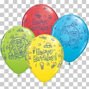 SpongeBob SquarePants Toy Balloon Party Birthday PNG