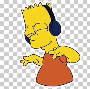 Music Bart Simpson Headphones Agy PNG