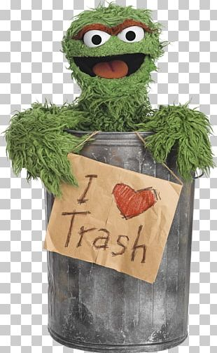 Oscar The Grouch Big Bird I Love Trash Grouches The Muppets PNG