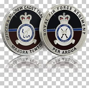 Challenge Coin Royal Air Force Badge Silver PNG