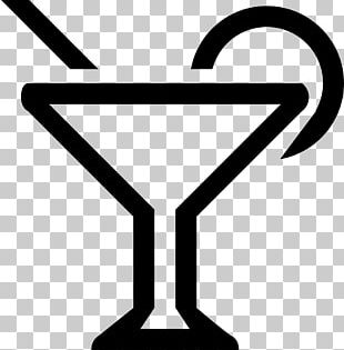 Martini Cocktail Glass Line PNG