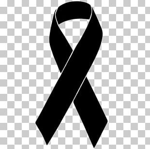 Black Ribbon Awareness Ribbon Red Ribbon Melanoma PNG