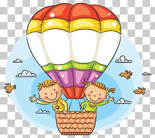 Cartoon Hot Air Balloon Illustration PNG