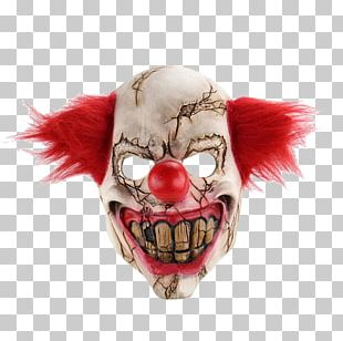 Mask Evil Clown Halloween Costume PNG