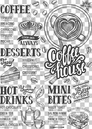 Coffee Tea Cafe Hamburger Menu PNG