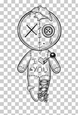 Drawing Voodoo Doll Sketch PNG