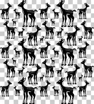 Reindeer Black And White Cartoon PNG