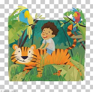 Tiger Child Illustrator Cartoon Illustration PNG