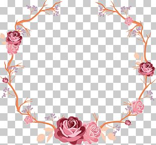 Hand Painted Rose Flower Vine PNG