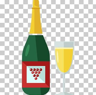 Red Wine Champagne Bottle Icon PNG