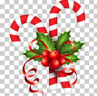 Candy Cane Stick Candy Santa Claus Christmas PNG