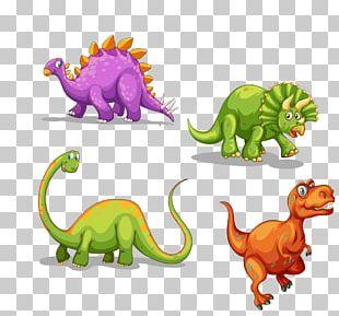 Tyrannosaurus Dinosaur Triceratops Cartoon PNG