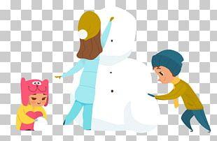 Cartoon Snowman Illustration PNG
