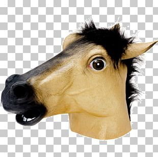 Horse Head Mask Costume Party PNG