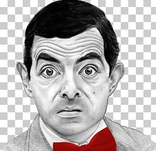 Rowan Atkinson Mr. Bean Drawing Portrait Sketch PNG