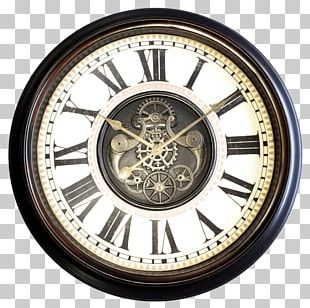 """Oversized Metal 37"""" Wall Clock Window Antique Oversized 45"""" Wall Clock PNG"""