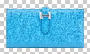 Wallet Coin Purse Leather Turquoise PNG