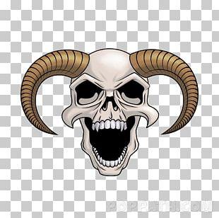 Skull Devil Drawing Calavera Horn PNG