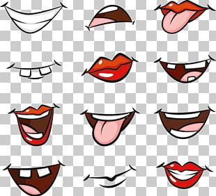 Cartoon Mouth Drawing PNG