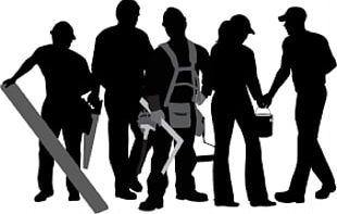 Construction Worker Silhouette Laborer PNG