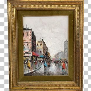 Frames Oil Painting Art Paris Street; Rainy Day PNG
