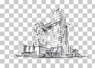 Drawing Architecture Building Sketch PNG