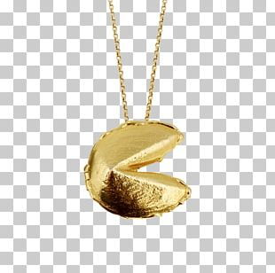 Locket Fortune Cookie Necklace Chain Jewellery PNG