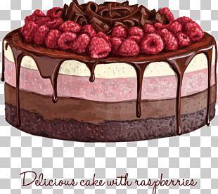 Birthday Cake Chocolate Cake Cream Muffin PNG