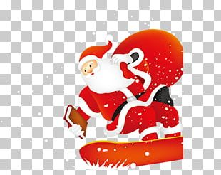 Santa Claus Christmas Poster Illustration PNG