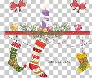 Christmas Stocking E-card Christmas Card Illustration PNG