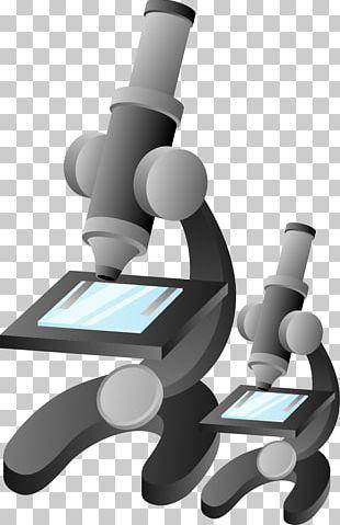 Microscope Cartoon Illustration PNG