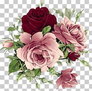 Vintage Clothing Floral Design Flower Rose Decoupage PNG