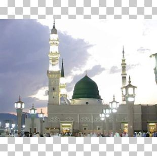 Al-Masjid An-Nabawi Great Mosque Of Mecca Dawah Green Dome PNG