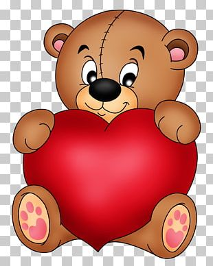 Teddy Bear Heart Stock Photography PNG