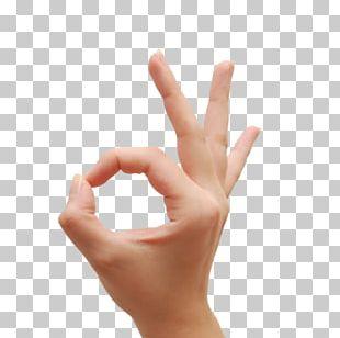 OK Hand Finger Thumb Signal PNG