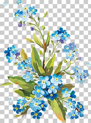 Flower Gouache Watercolor Painting PNG