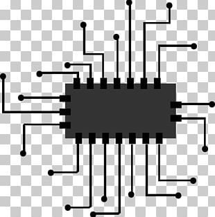 Integrated Circuit Central Processing Unit Microprocessor Icon PNG