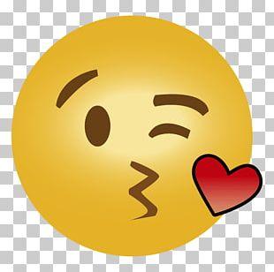 Emoji Kiss Emoticon Heart Smiley PNG