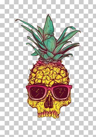 Pineapple Human Skull Symbolism Skull Art Calavera PNG