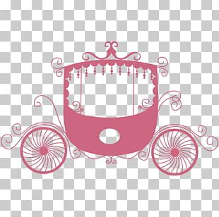 Carriage Wedding Invitation Wall Decal Sticker PNG
