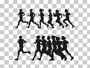 Running Silhouette 5K Run PNG