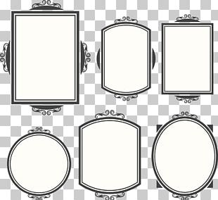 6 Vintage Frame Design Material PNG