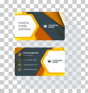 Business Card Design Logo PNG