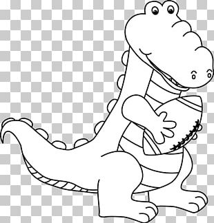 Black And White Alligator PNG