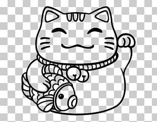 Cat Maneki-neko Drawing Luck PNG
