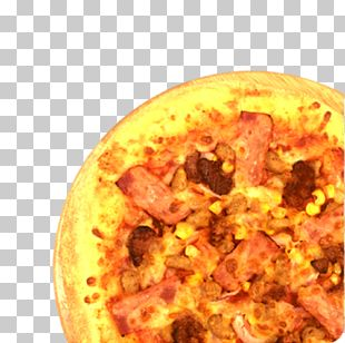 Sicilian Pizza Hamburger Bacon Cheese And Onion Pie PNG