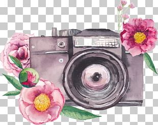 Watercolor Painting Photography Camera PNG